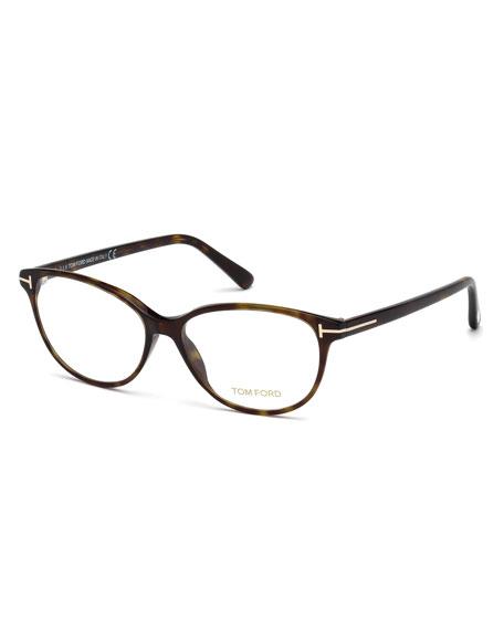 Cat-Eye Optical Frames, Brown Havana