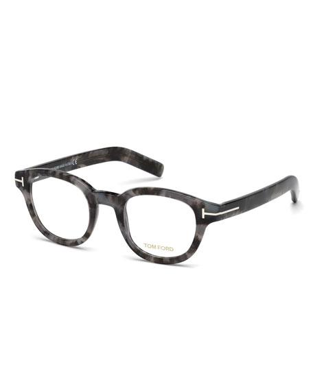 Chunky Square Optical Frames, Gray Tortoise