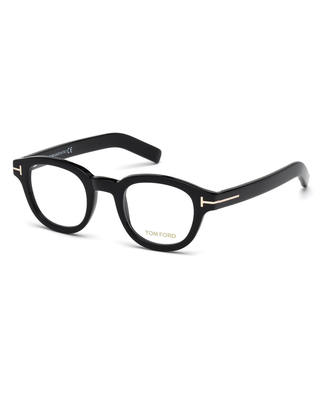 TOM FORD Chunky Square Optical Frames, Black | Neiman Marcus