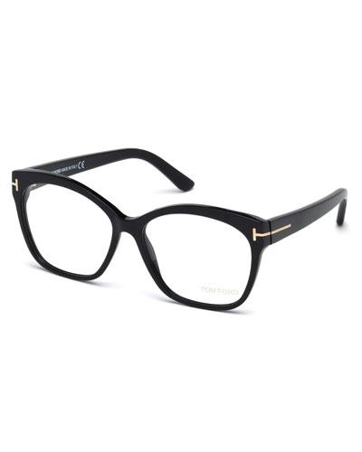 Round Square Optical Frames, Black
