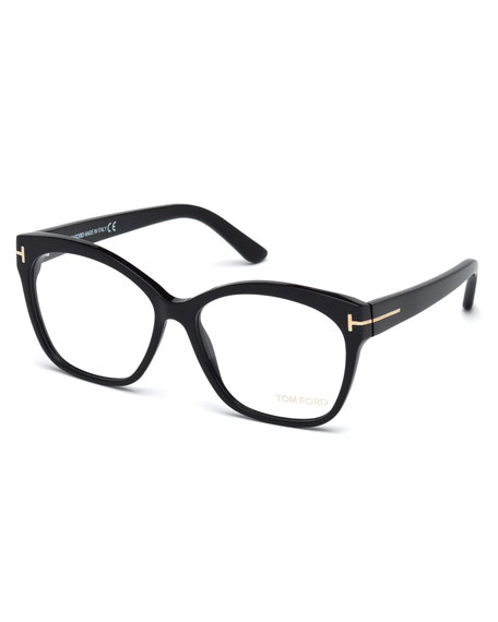 Round Square Optical Frames, Black