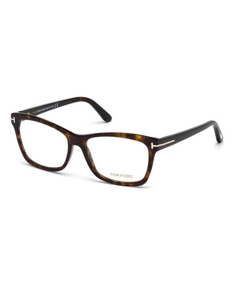 Square Optical Frames, Brown Havana