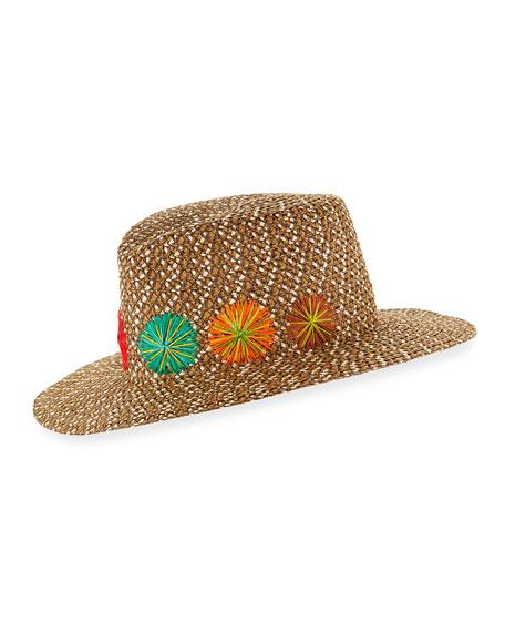 Eric Javits Zanzibar Packable Squishee Sun Fedora Hat,
