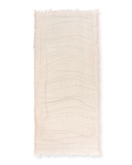 Dionix Sheer Metallic Stripe Scarf, Pink