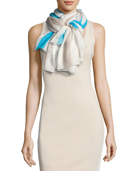 Faliero Sarti L'Acessorio Righina Striped Cotton Scarf,