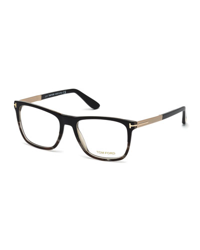 Square Colorblock Fashion Glasses