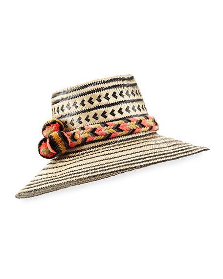 Guanabana Handmade Guajiro Patterned Mawisa Sun Hat,