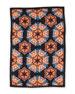 Silk-Blend Kaleidoscope Scarf, Black