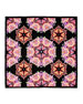 Image 2 of 2: Square Silk Twill Kaleidoscope Scarf, Black/Multicolor