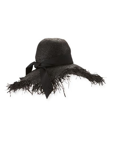 Éte Raffia Sun Hat, Black