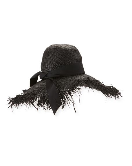 Gigi Burris Été Raffia Sun Hat, Black