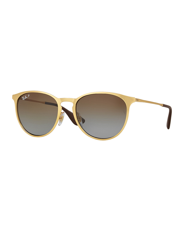 336984ff1 Ray-Ban Erika Rounded Square Polarized Sunglasses, Gold | Neiman Marcus
