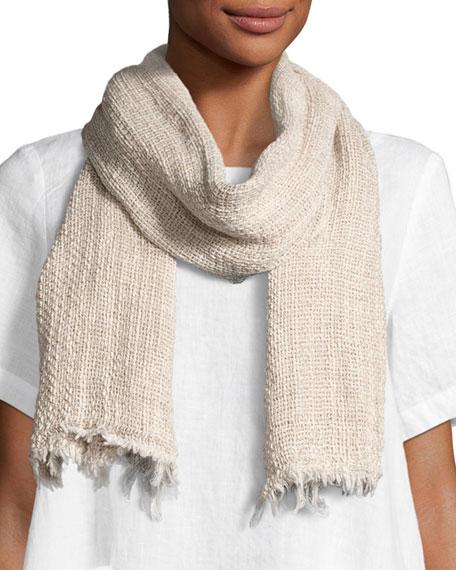 Eileen Fisher Organic Linen/Cotton-Blend Twist Scarf