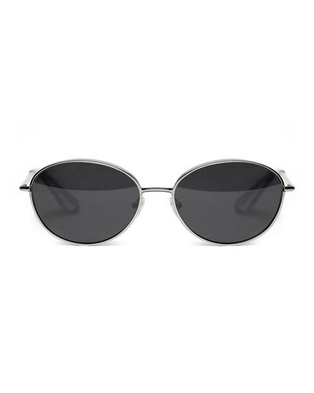 Fenn Metal Oval Sunglasses