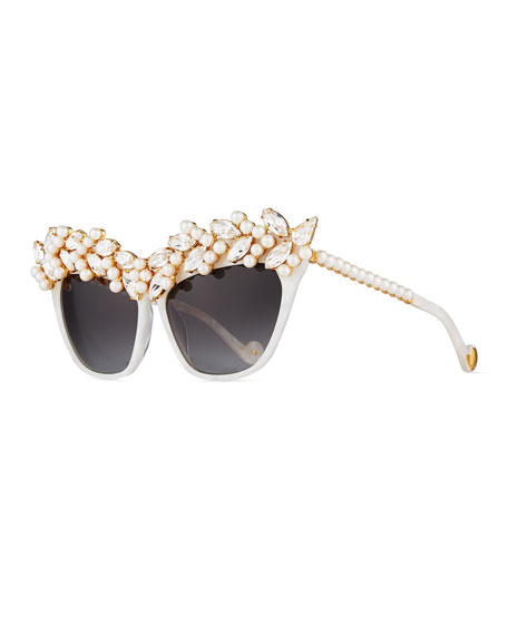 Anna-Karin Karlsson Tears of the Moon Cat-Eye Sunglasses,