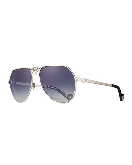 Anna-Karin Karlsson The Art Deco Aviator Sunglasses, Silver