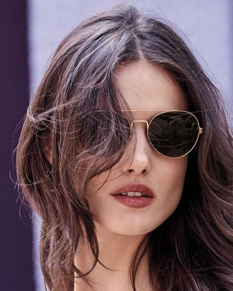 York Round Aviator Sunglasses