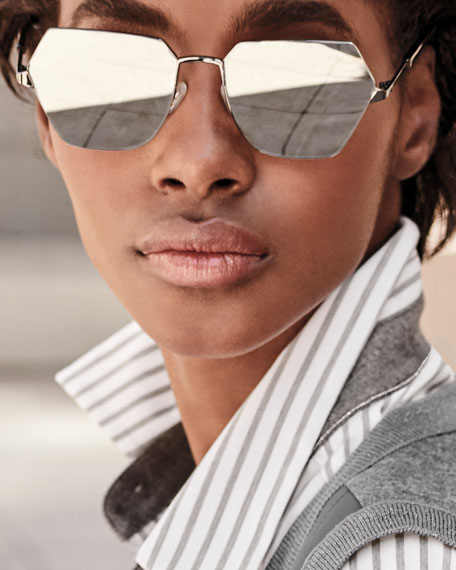 Henly Geometric Metal Sunglasses