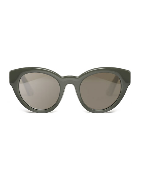 Payton Chunky Cat-Eye Sunglasses