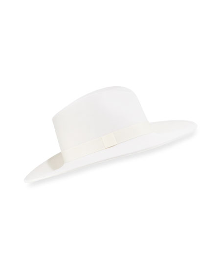 Dita Incognito Wool Fedora, White