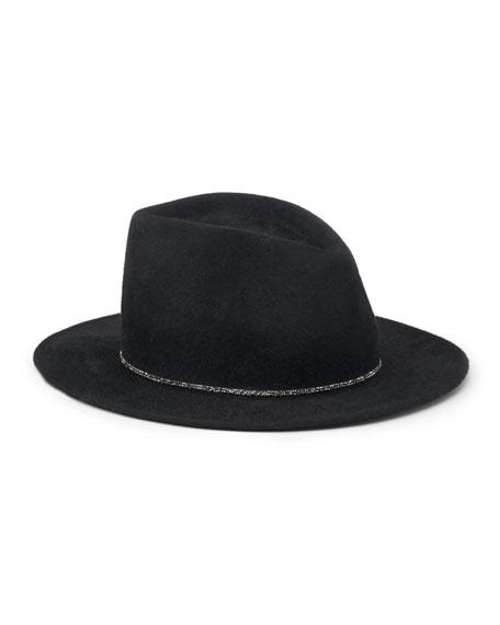 Blaine Wool Felt Panama Hat, Black