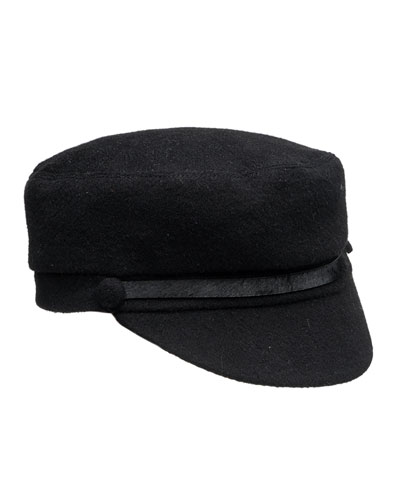 Elyse Cashmere Banded Cap