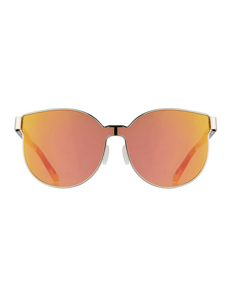 Star Sailor Mirrored Sunglasses, Yellow/Crazy Tortoise