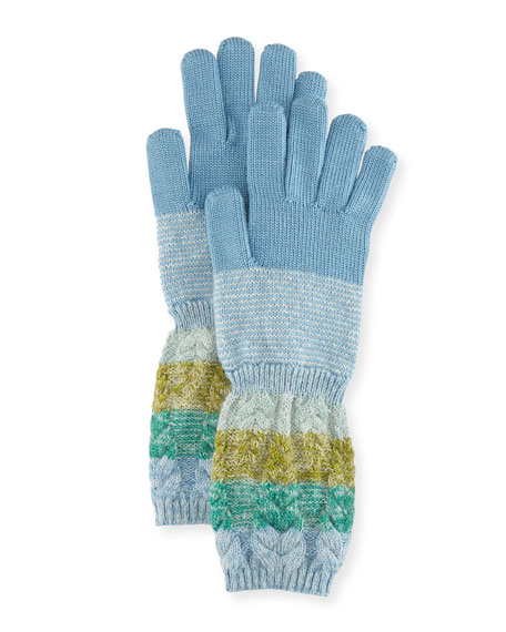 Missoni Striped Wool/Mohair Knit Gloves