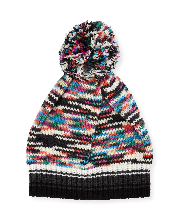 64f5d94b7ff Missoni Space-Dye Knit Pompom Beanie Hat