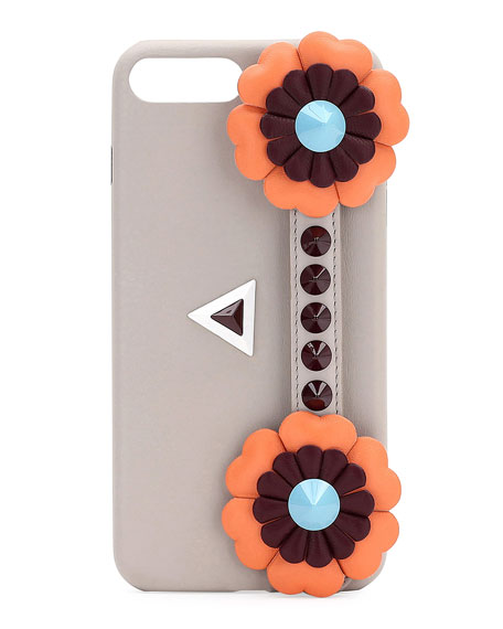Fendi Flowerland iPhone?? 7 Plus Case, Gray