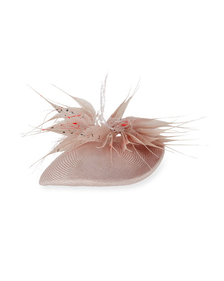 Jane Taylor Blushing Tear Cocktail Hat, Light Pink