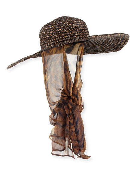 Kokin Macassar Convertible Sun Hat with Chin Tie