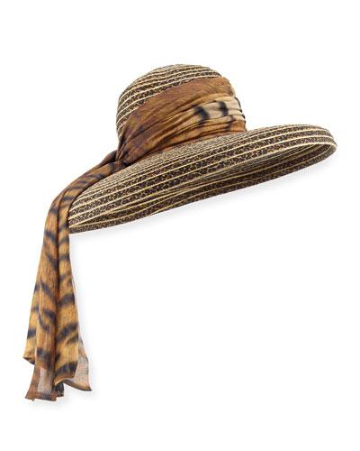 Macassar Luncheon Sun Hat with Silk Trim