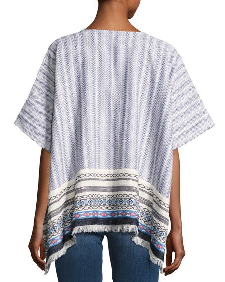 Blaire Embroidered Poncho, Multi