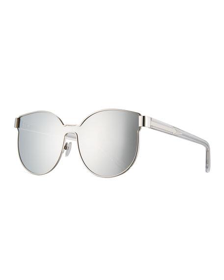 Star Sailor Mirrored Sunglasses, Gray