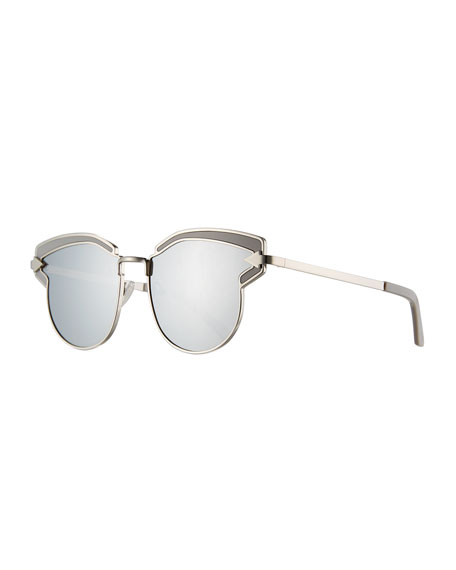 Karen Walker Felipe Metal Sunglasses, Gray