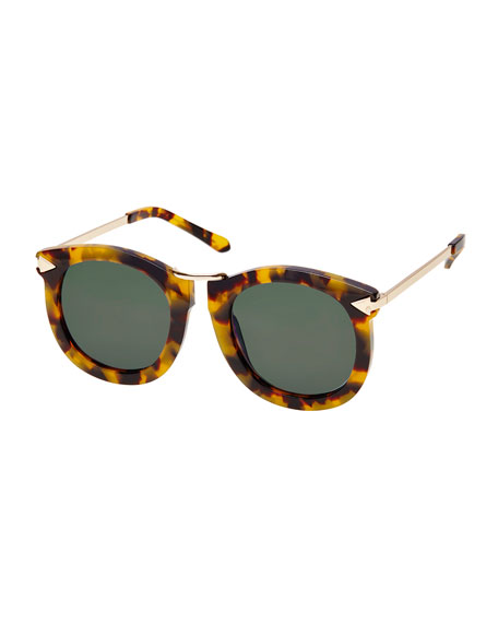 Karen Walker Super Lunar Round Monochromatic Sunglasses, Crazy