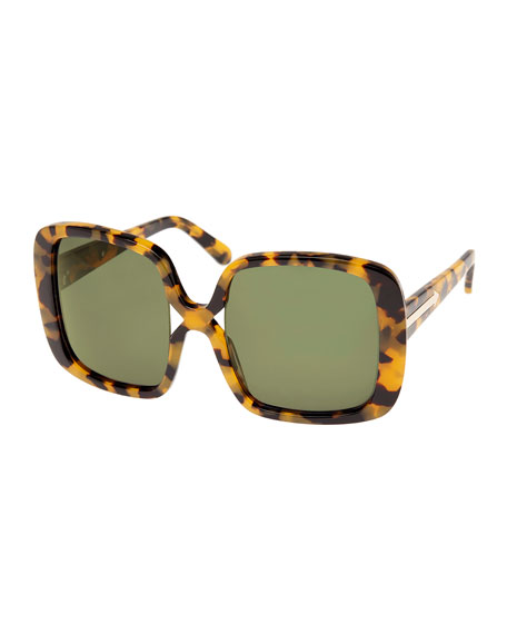 Marques Oversized Square Sunglasses, Brown