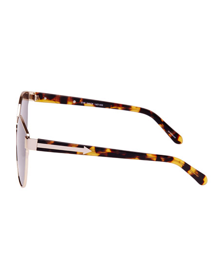 Star Sailor Monochromatic Sunglasses, Yellow Gold/Crazy Tortoise
