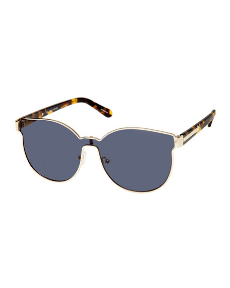 Karen Walker Star Sailor Monochromatic Sunglasses, Yellow