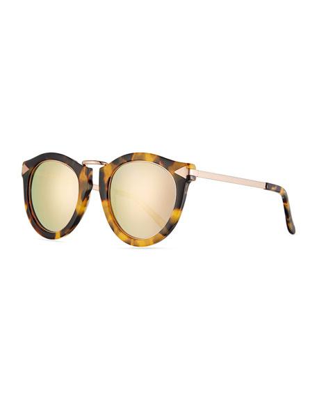 Karen Walker Mirrored Sunglasses  karen walker harvest round mirrored sunglasses crazy tortoise