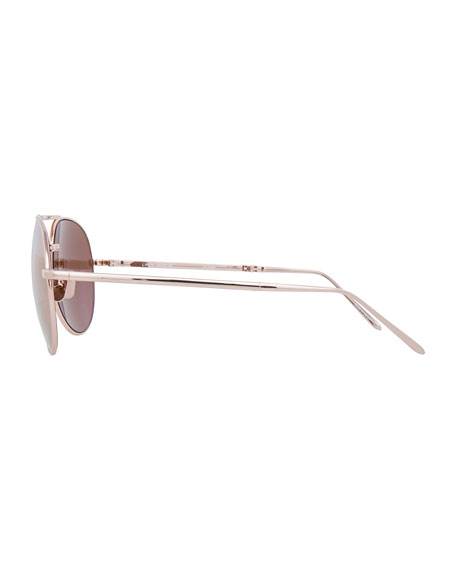 Foldable Aviator Sunglasses, Rose Gold