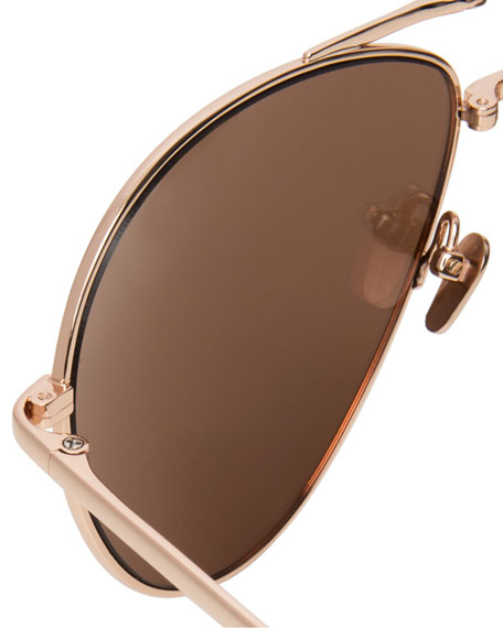 Foldable Aviator Sunglasses, Rose Gold