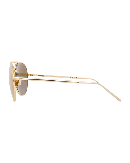Foldable Aviator Sunglasses, Gold