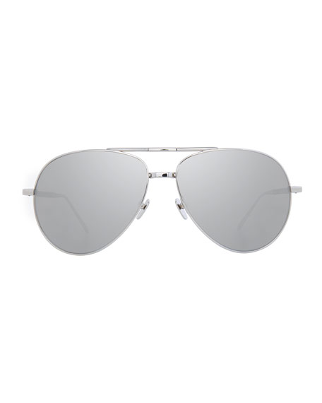 Foldable Aviator Sunglasses, White Gold