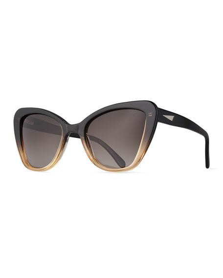 Prism Venice Cat-Eye Sunglasses, Black
