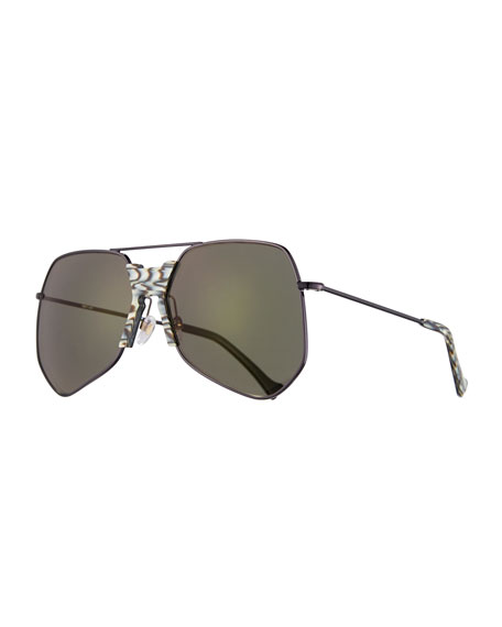 Grey Ant Goste Geometric Sunglasses, Black