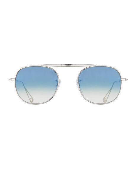 Van Buren Foldable Metal Sunglasses, Silver