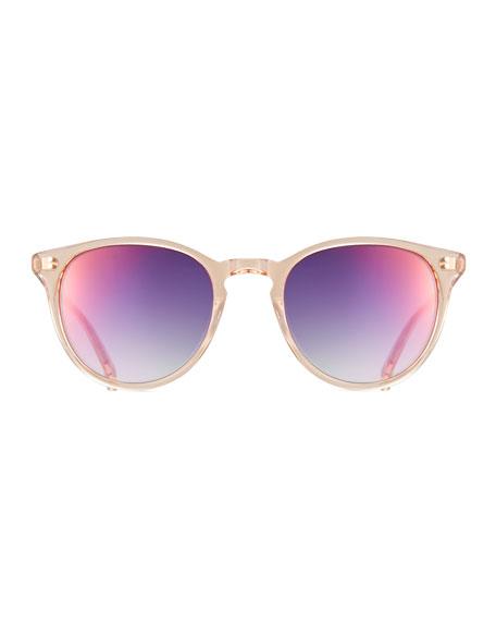 Milwood Transparent Square Sunglasses, Pink