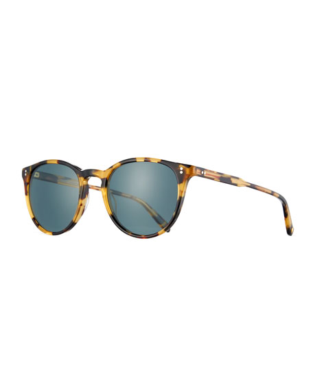 Garrett Leight Milwood Square Sunglasses, Brown Tortoise